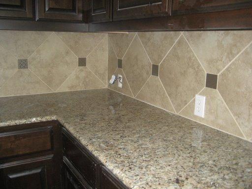 Kitchen backsplash with 12x12 tile so cal tile bath for 12x12 kitchen ideas