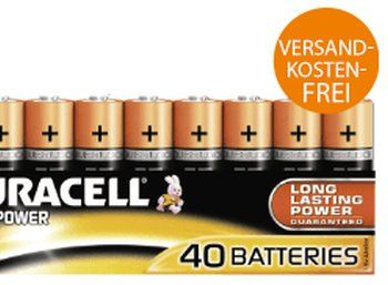 Saturn: Duracell 40er-Pack AA für 17,99 Euro frei Haus https://www.discountfan.de/artikel/technik_und_haushalt/saturn-duracell-40er-pack-aa.php Batterien-Megapack zum Minipreis: Bei Saturn gibt es jetzt 40 AA-Batterien von Duracell zum Schnäppchenpreis von 17,99 Euro frei Haus – somit fallen für das klassische Viererpack günstige 1,80 Euro an. Saturn: Duracell 40er-Pack AA für 17,99 Euro frei Haus (Bild: Saturn.de) Das 40er-Pack AA... #Batterien