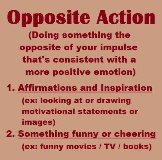 DBT: Opposite Action