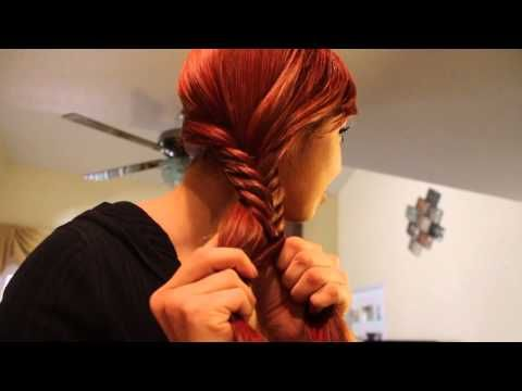 Trenza de Espiga o Cola de Pescado - Fishtail Braid! - YouTube