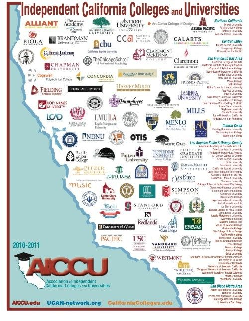 Image result for colleges in california map | College bound