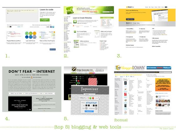 {tuesday's top 5} blogging and web tools