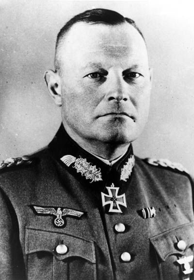 Erich Hoepner (September 14, 1886 - August 8, 1944) was a German general in World War II. A successful panzer leader, Hoepner was implicated in the failed July 20 Plot against Adolf Hitler and executed in 1944.