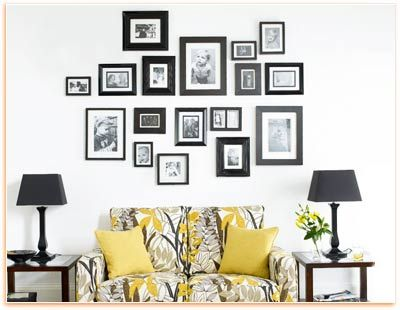 Try To Get Frames With The Same Finishes Or Color It Will Result In A Unified Picture Arrangement While Decorating Wall Another Way For An Organi