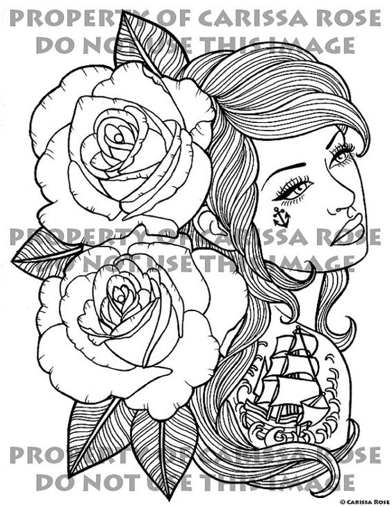 digital download print your own coloring book outline page down with the ship by carissa - Print Your Own Coloring Book