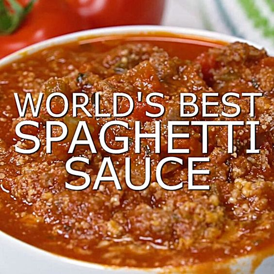 World's best spaghetti sauce
