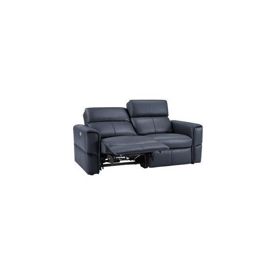 Samson Modular Group 8 In Dark Blue Leather Blue Leather Sofa Grey Leather Sofa Grey Leather Sectional