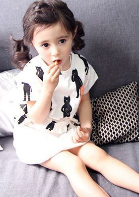 annikaネポションクロップトップ(ホワイト)-XSサイズが1点のみ - 韓国子供服tsubomi annika,amber,bien a bien.ae-hemかわいい輸入服のセレクトショップ
