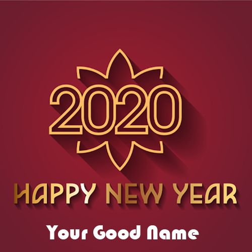 Name Greeting Card Happy New Year 2020 Wishes Make Your