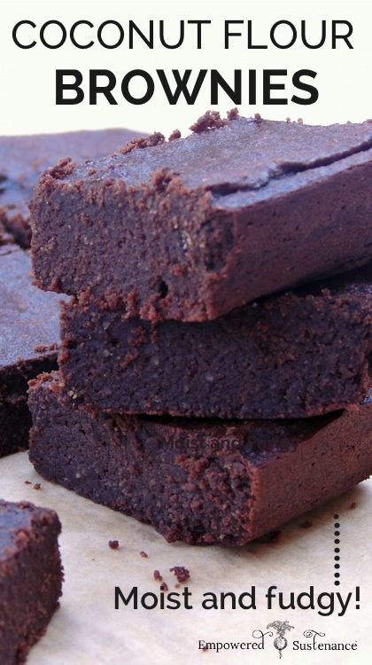 I can't believe how simple the ingredients list is! Paleo Coconut Flour Brownies are moist, dense and fudgy enough to satisfy any brownie connoisseur.