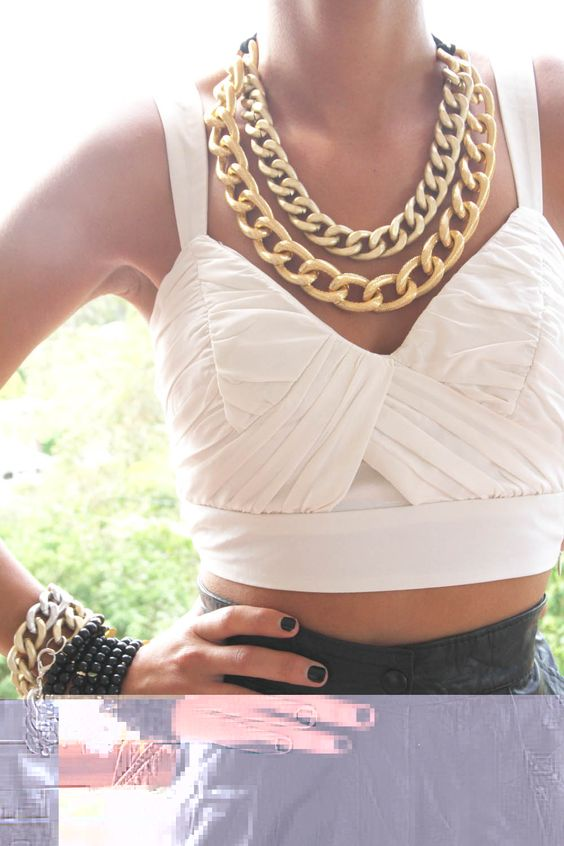 chunky gold necklaces