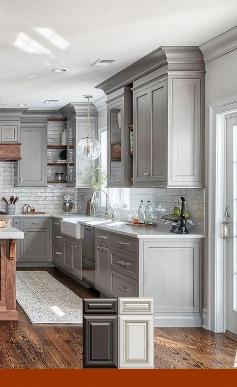 Painting Kitchen Cabinets Polyurethane Finish Kitchen Remodel Small Kitchen Remodel Grey Kitchen Colors
