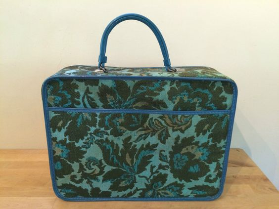 Vintage Floral Paisley Tapestry Overnight Bag Case Suitcase Retro Design 15x16x6 | eBay