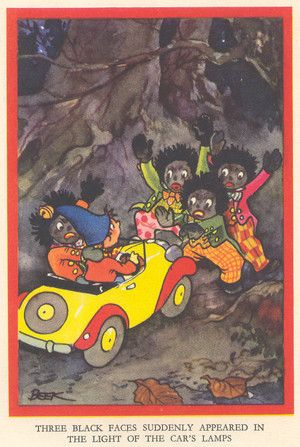 Here Comes Noddy Again by Enid Blyton Today a very controversial illustration.