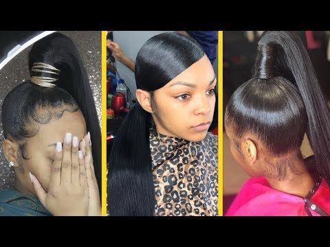 How To Do A Sleek Ponytail 90s Swoop For 10 Raelyn Hairstyles Journal In 2020 Hair Styles Natural Hair Styles Black Ponytail Hairstyles