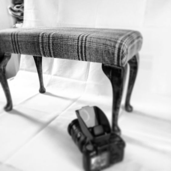 Photographing #footstools today for the online shop #upholstery