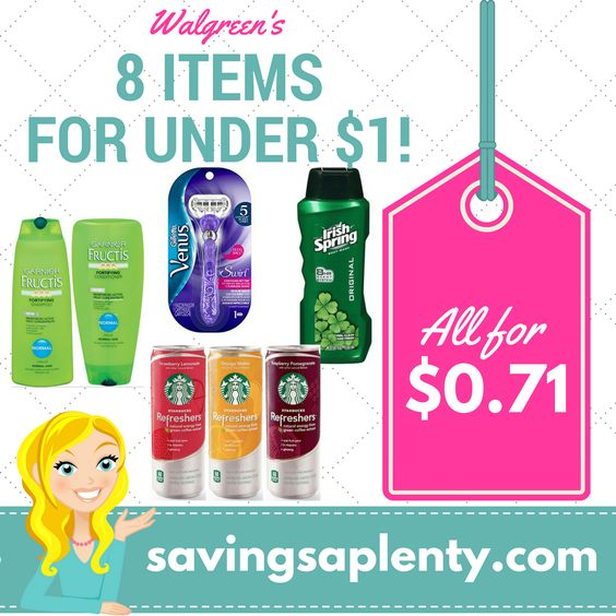 """HOT! 8 Items for ONLY $0.71 at Walgreens!   HOT! 8 Items for ONLY $0.71 at Walgreens! Wow! Head on over to Walgreen's and score some awesome deals! Get 8 items for ONLY $0.71!  The coupons you need for this deal are pre-clipped for you HERE, just click """"print coupons"""". >>>PRINT HERE<<< Check out the deals:  Buy (... http://www.savingsaplenty.com/?p=5943"""