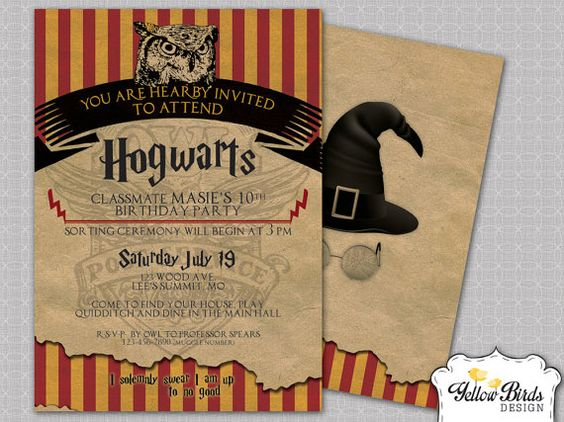 Harry Potter Birthday Invitation Template is awesome invitation example