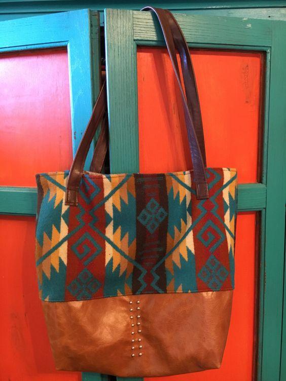 PENDLETON WOOL PURSE Tote Bag Bohemian Tribal & Southwestern Purse by GreenGypsyBoutique on Etsy