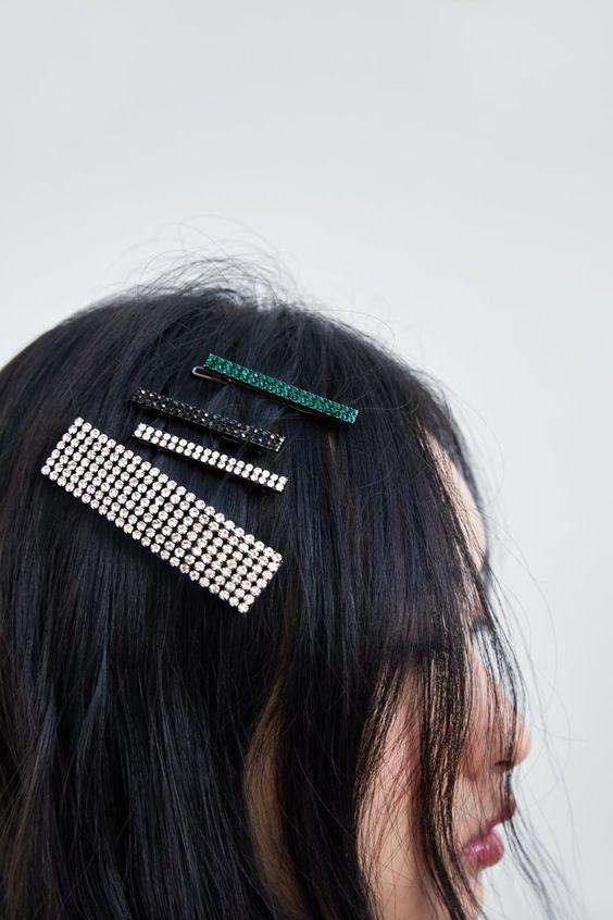 изображение 5 из НАБОР ЗАКОЛОК СО СТРАЗАМИ от Zara
