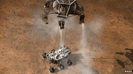 Landing Sequence (7) Rover finally touches down