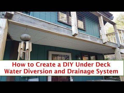 Diy Under Deck Water Diversion And Drainage Youtube Under Deck Drainage Under Decks Under Deck Drainage System