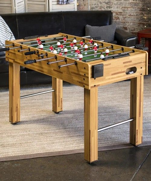 48in Foosball Soccer Arcade Game Table W Built In Cup Holders 2
