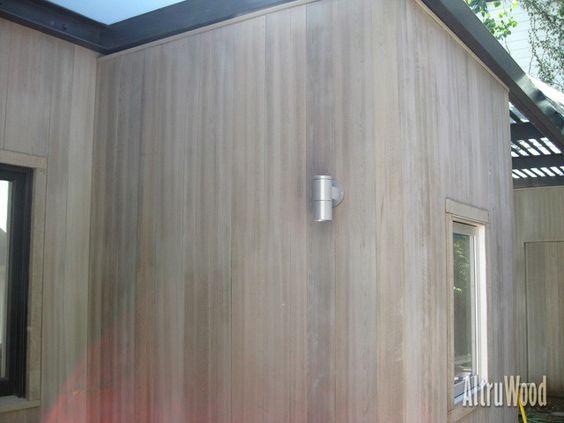 Pale Cedar With Bleached Oil Stain Cedar Siding Wood Siding Exterior Cedar Cladding