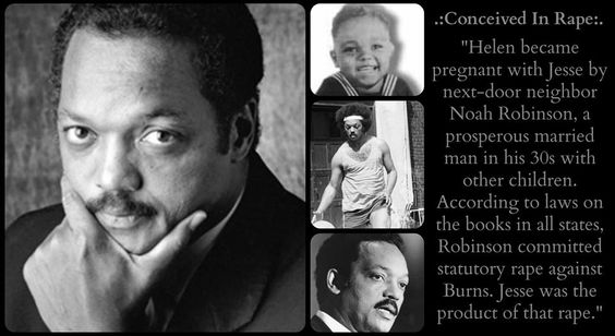 Jesse Jackson, conceived in rape