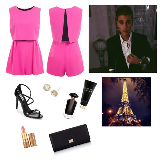 """"""""""" by paradise19t ❤ liked on Polyvore featuring Miss Selfridge, Steve Madden, xO Design, Victoria's Secret, Dolce&Gabbana and tarte"""