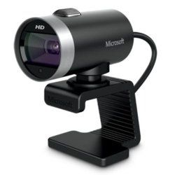 Webcam - Microsoft LifeCam Cinema, 720p HD, micrófono integrado, color negro