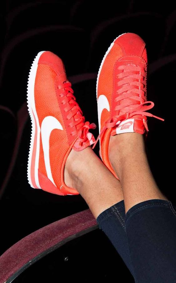 Nike Cortez Nylon Orange Basket Homme