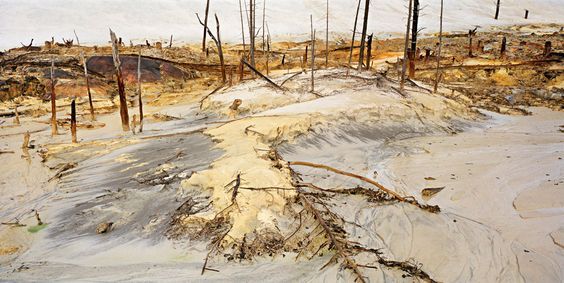 Edward Burtynsky Uranium Tailings #9,  Elliot Lake, Ontario 1995