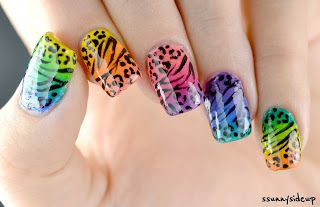 ssunnysideup: Leopard meets zebra print nails done with KIKO, essence and color club polishes
