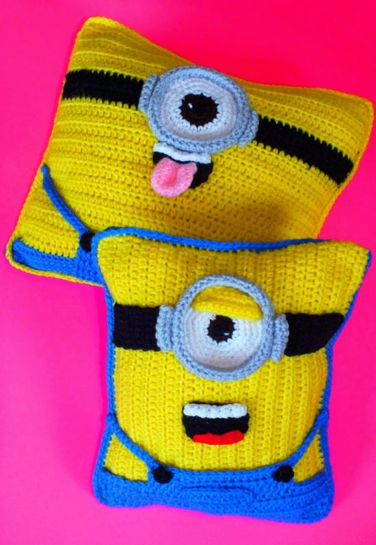Minion Crochet Cushion Pattern - lots of free patterns in our post
