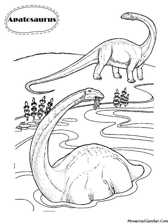 download gambar mewarnai dinosaurus apatosaurus coloring pages pinterest. Black Bedroom Furniture Sets. Home Design Ideas