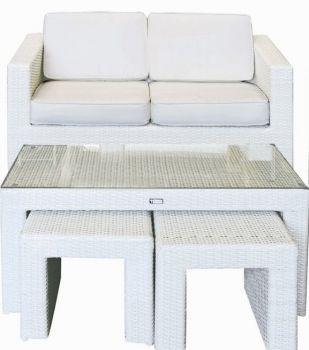 Woodwell - Outdoor Gartensofa Benefit 2-Sitzer Weiß