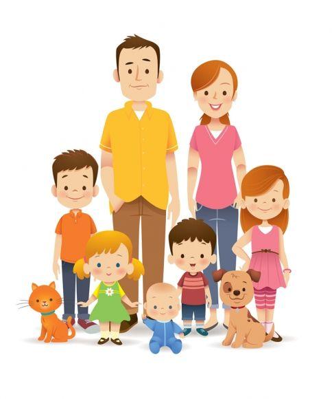 Family characters by Jerrod Maruyama.: