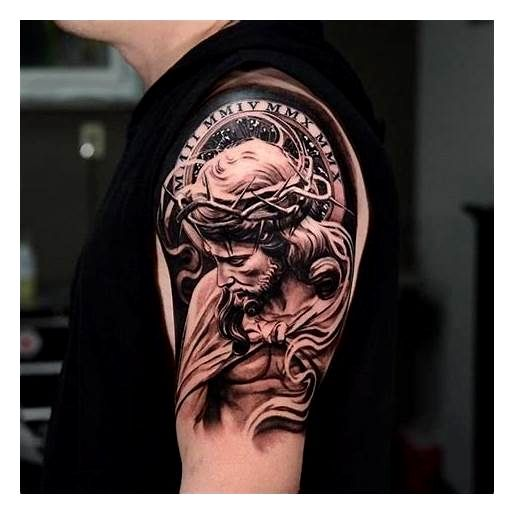 Shoulder Tattoo Ideas For Men Ideas Christ Tattoo Jesus Christ Tattoo Jesus Tattoo