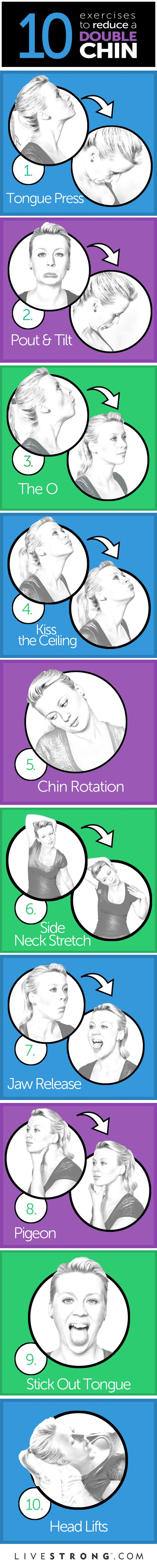 10 Best Exercises to Reduce a Double Chin