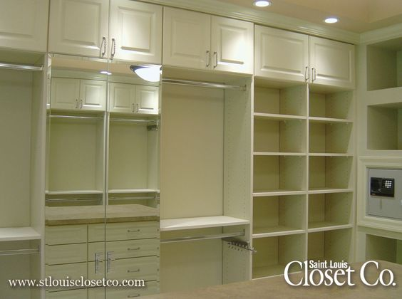 St. Louis Custom Closets   I Like The Lighting And White Wood Design. Will