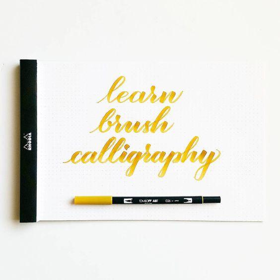 Tombow Dual Brush Pen Brushes And Lettering On Pinterest