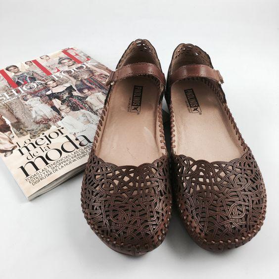 #Bailarinas Pikolinos con las costuras hechas a mano. Alta calidad y comodidad para el próximo verano.  #shoes