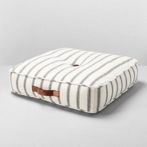 Floor Cushion Stripe Brown White Hearth Hand With Magnolia Target Floor Cushions Living Room Floor Cushions Living Room Scandinavian