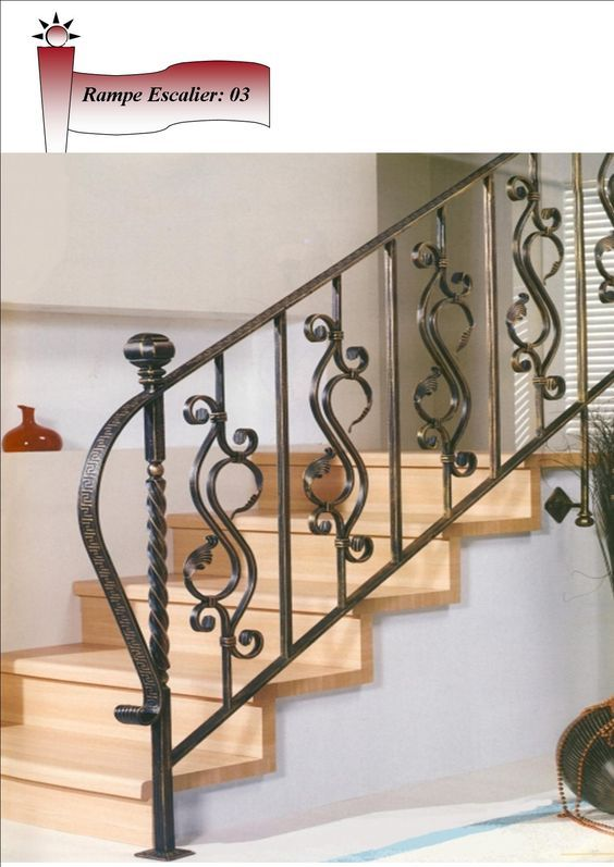Fer Forge Tunisie Export Rampe 3 With Images Metal Stair Railing
