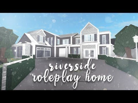 Roblox Bloxburg Riverside Family Home Speedbuild Youtube Riverside House Modern Family House Building A House