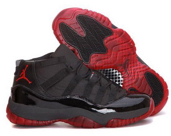 Air Jordan Retro 11 Black Dark Red Sweden | Nike air jordan ...