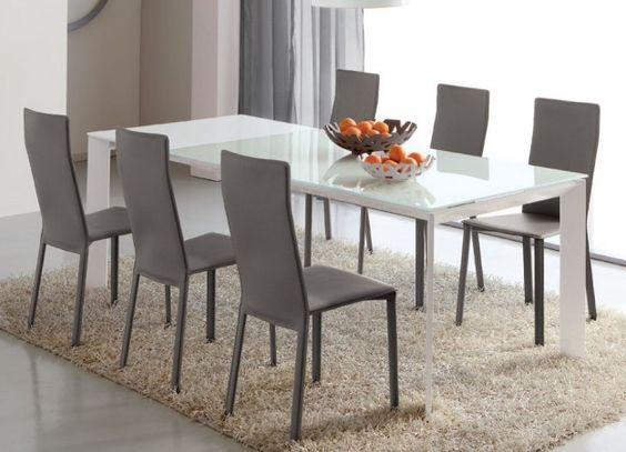 Sedie conforama ~ Abbinare tavolo e sedie tavolo bianco e sedie grigie