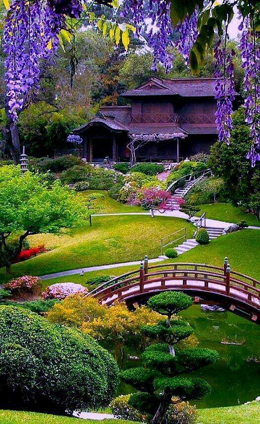 Un Beau Jardin Japonais Mur Decora La Maison In 2020 Japanese Garden Zen Beautiful Gardens Japanese Garden