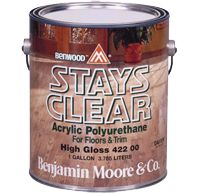 Benwood Stays Clear Acrylic Polyurethane By Benjamin Moore For Floor Non Yellowing Finish